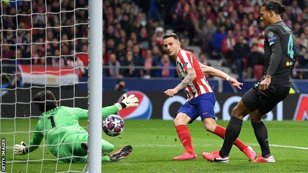 Saul Niguez's goal for Atletico was the earliest Liverpool have conceded in the Champions League since Gabriel Jesus scored past them in the second minute for Manchester City in April 2018