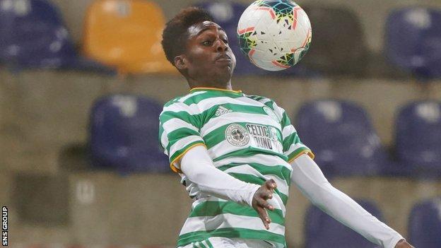 Celtic full-back Jeremie Frimpong