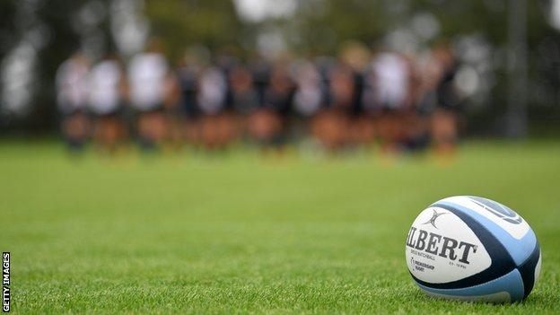 Premiership rugby ball used at Exeter Chiefs training