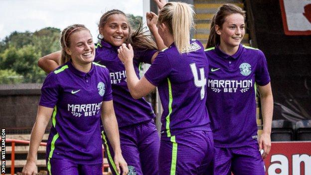 Abigail Harrison scored a hat-trick as Hibs Ladies drew 3-3 with Glasgow City
