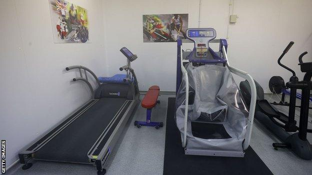The specially designed conditioning rooms at Bisham Abbey