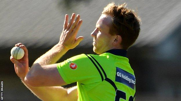 All-rounder Shane Getkate was called up to the Ireland squad prior to the postponement
