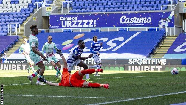 Jamal Lowe steered in Swansea's equaliser