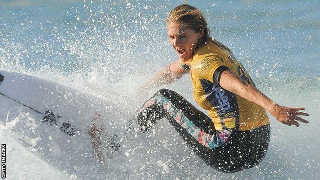 Australian surfer Stephanie Gilmore