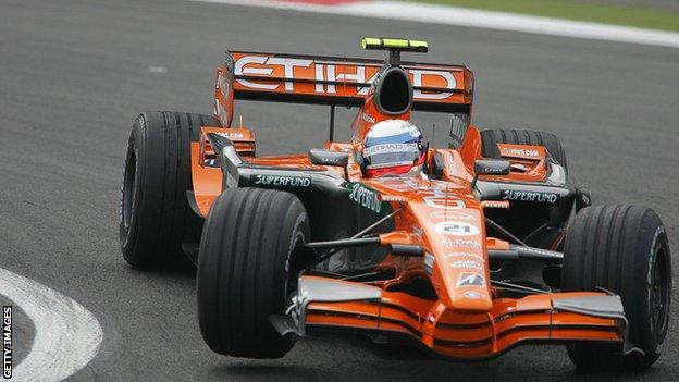 Markus Winkelhock in action at the Nurburgring 2007