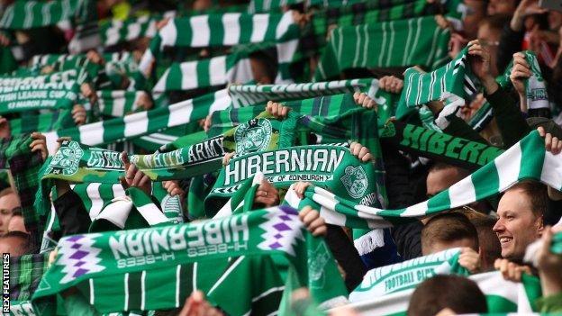 Hibernian fans
