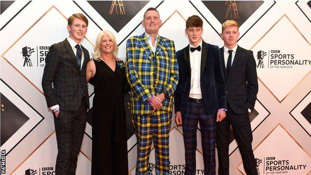 The Weir family at SPOTY