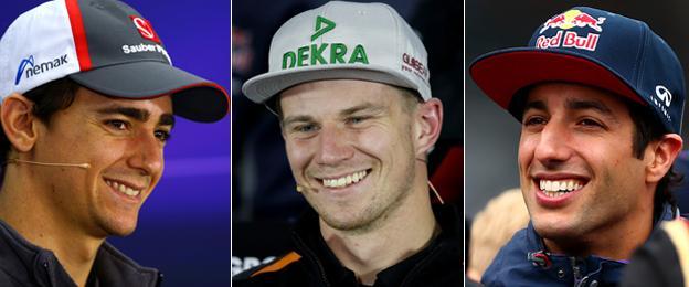 Esteban Guttierez, Nico Hulkenberg, Daniel Ricciardo