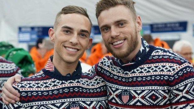 Adam Rippon and Gus Kenworthy