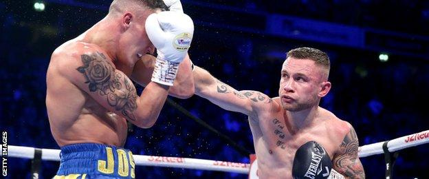 Two judges scored the fight 116-112, with the other scoring 116-113 for Warrington