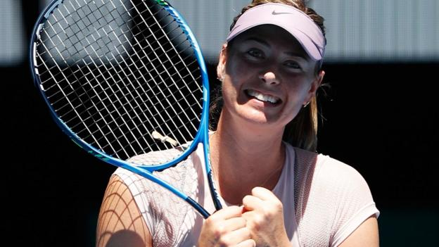 Australian Open 2018: Maria Sharapova sees off Anastasija Sevastova in second round