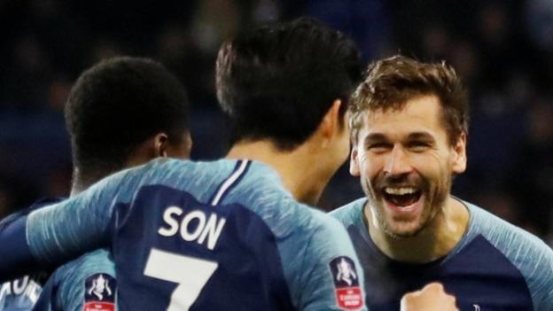 d7823befe6c Tranmere Rovers 0-7 Tottenham  Fernando Llorente scores hat-trick in  thrashing - BBC Sport
