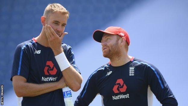 Stuart Broad and Jonny Bairstow