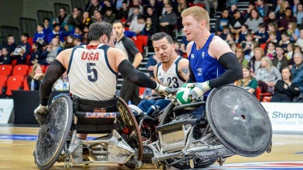 Wheelchair rugby - GB v USA