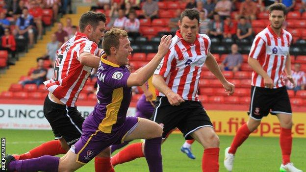 Lincoln City action shot