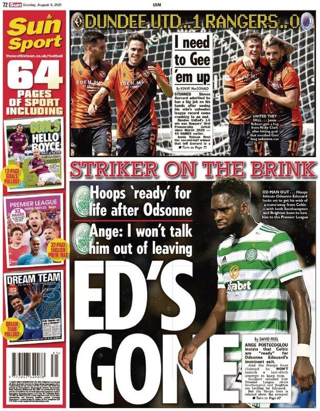 The back of the Scottish Sun on 080821