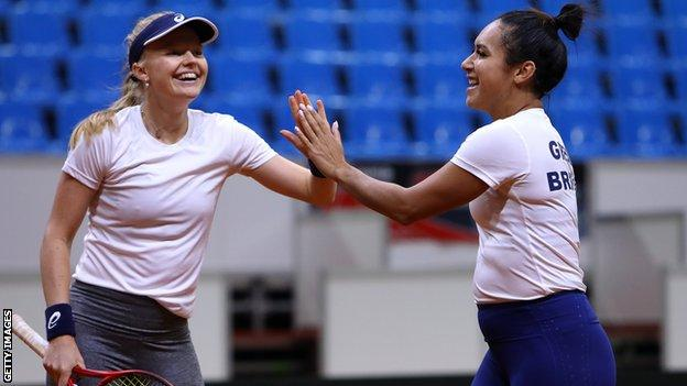 Harriet Dart and Heather Watson