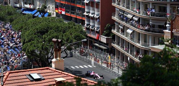 Force India's Esteben Ocon