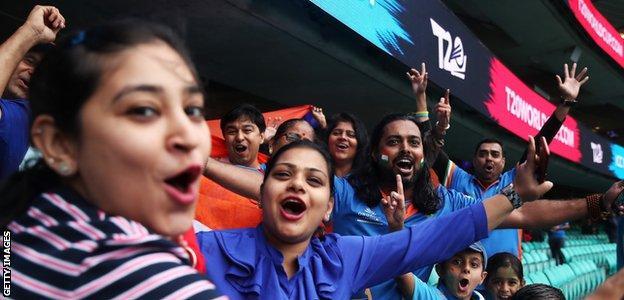 India supporters celebrate