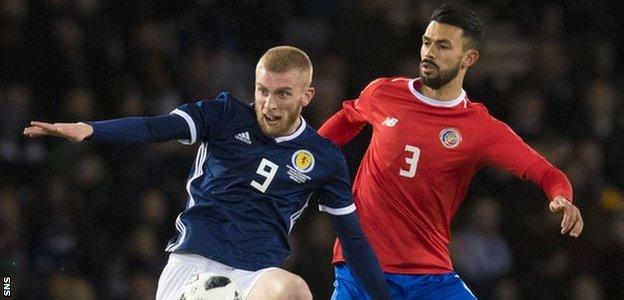 Oli McBurnie made his Scotland debut at Hampden