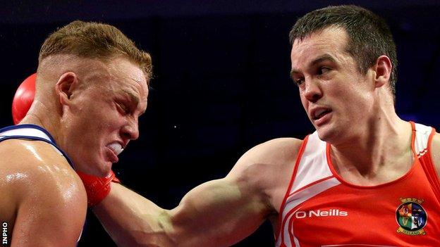 Darren O'Neill is through to the quarter-finals at the European qualifying event for the Olympics