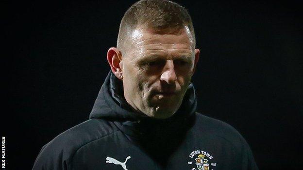 Luton manager Graeme Jones