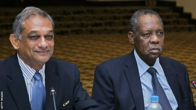 Suketu Patel and Issa Hayatou