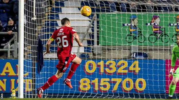 Ross County's Don Cowie heads an own goal