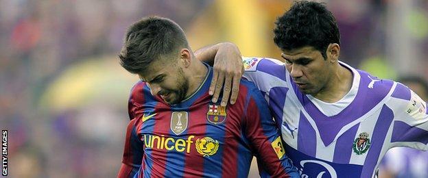 Gerard Pique and Diego Costa