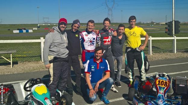 Romain Grosjean and pals