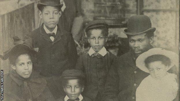 Walter Tull with his family