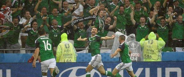 Gareth McAuley got Northern Ireland's Euro 2016 off to a flying start with their opening goal against Ukraine in Lyon
