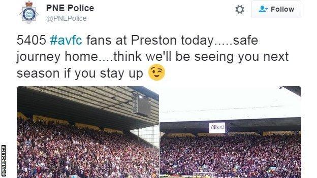 PNE Police tweet