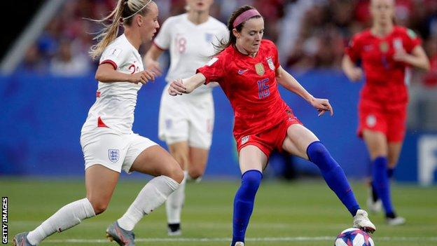 Beth Mead against the USA at the 2019 World Cup