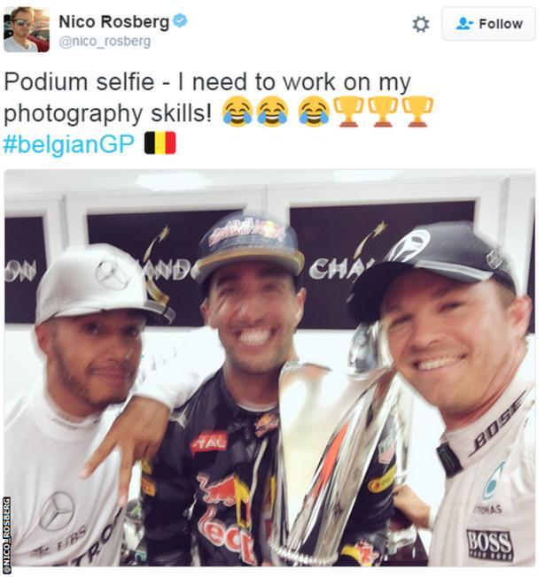 Lewis Hamilton; Daniel Ricciardo; Nico Rosberg