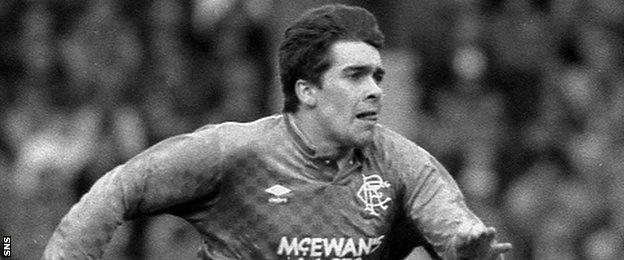 Ian McCall in action for Rangers