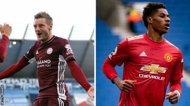 Jamie Vardy (Leicester), Marcus Rashford (Man Utd)