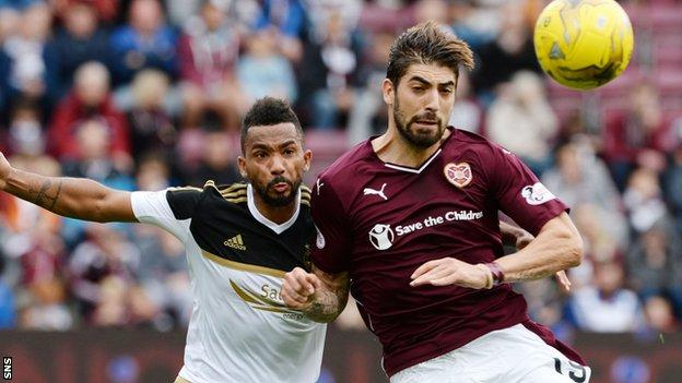 Hearts are currently third in the Premiership, with Aberdeen second