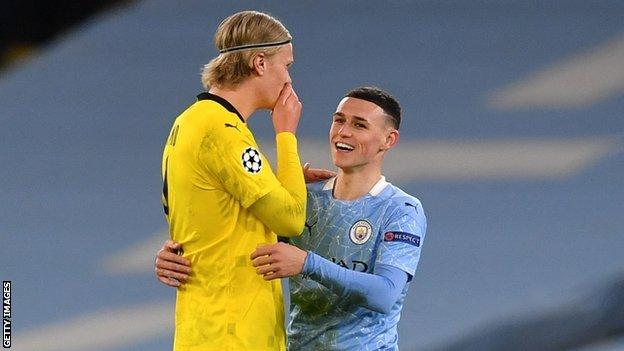 Erling Haaland and Phil Foden
