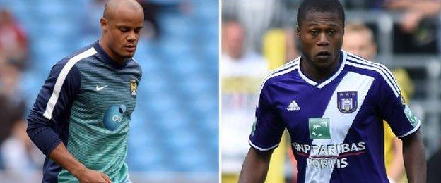 Vincent Kompany and Chancel Mbemba