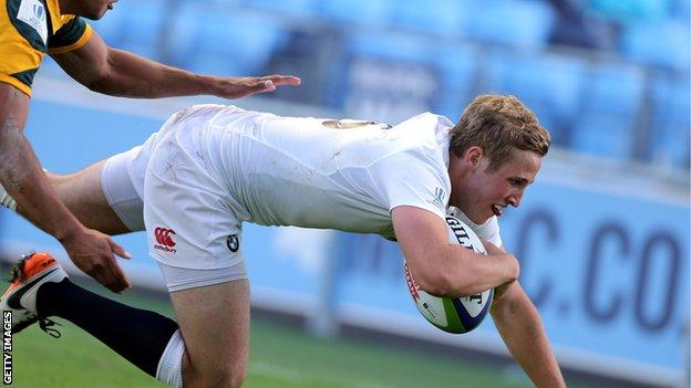 Max Malins scores for England