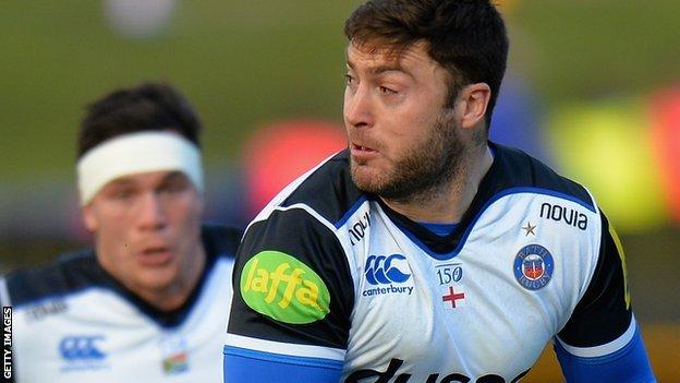 Matt Banahan in action for Bath