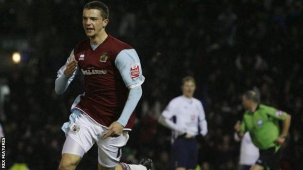 Jay Rodriguez celebrates scoring for Burnley during his first spell at the club