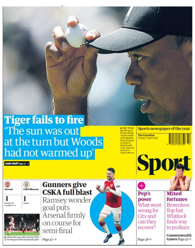 Guardian sports section on Friday