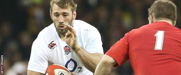 Chris Robshaw carries the ball against Wales in this year's Six Nations