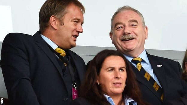 Scottish FA president Rod Petrie, right, has informed clubs of the lending facility