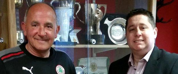 Tommy Breslin's resignation was reluctantly accepted by Cliftonville chairman Gerard Lawlor