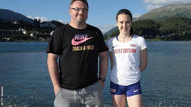 Andy Young and Laura Muir