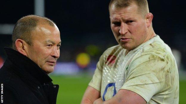 England coach Eddie Jones and captain Dylan Hartley