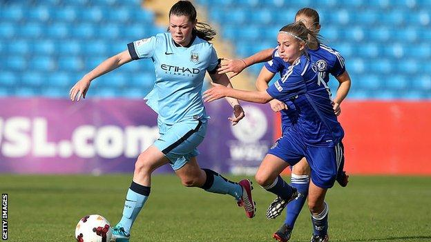 Tash Flint playing against Chelsea Ladies